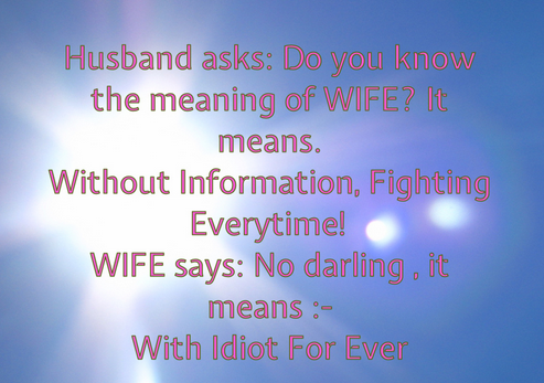 funny jokes about husband and wife
